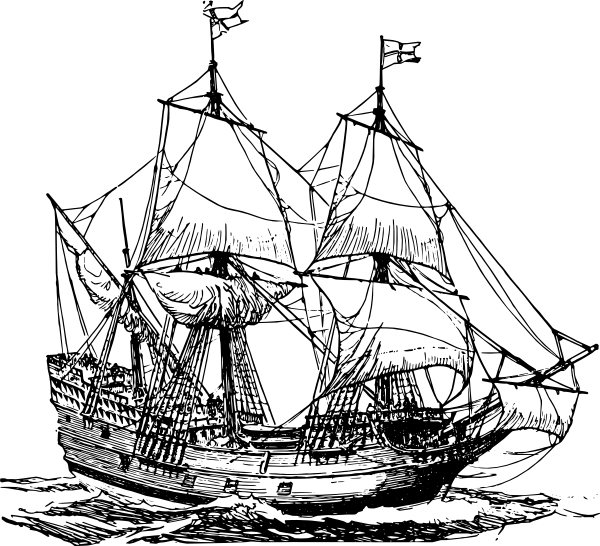 Carrack Ship Clip Art At Clker Com   Vector Clip Art Online Royalty