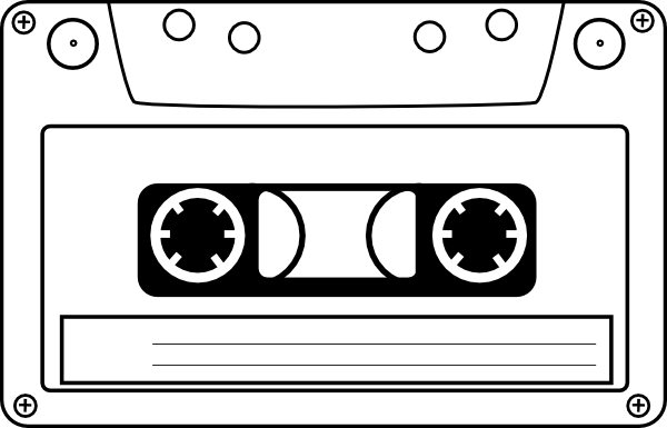 Cassette Audio Tape Clip Art At Clker Com   Vector Clip Art Online