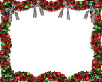Christmas Garland Border   Image And Illustration