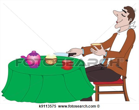 Clipart The Person Taking Food Fotosearch Search Clipart