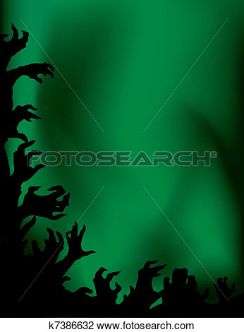 Crazy Zombie Night Party  Hands Silhouettes  K7386632   Search Clipart