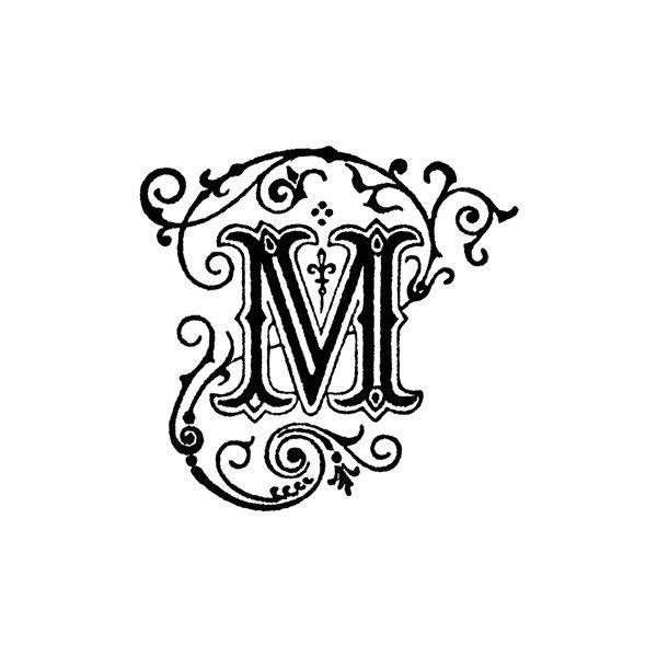 Decorative Letter M Clipart Found On Polyvore  Decor Letters Numbers