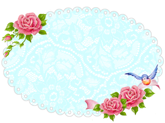 Freebie Image  Shabby Blue Rose Frame     Free Pretty Things For You