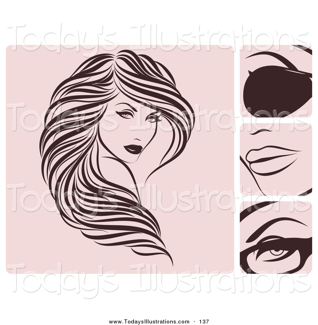 Flowing Hair Clipart - Clipart Suggest