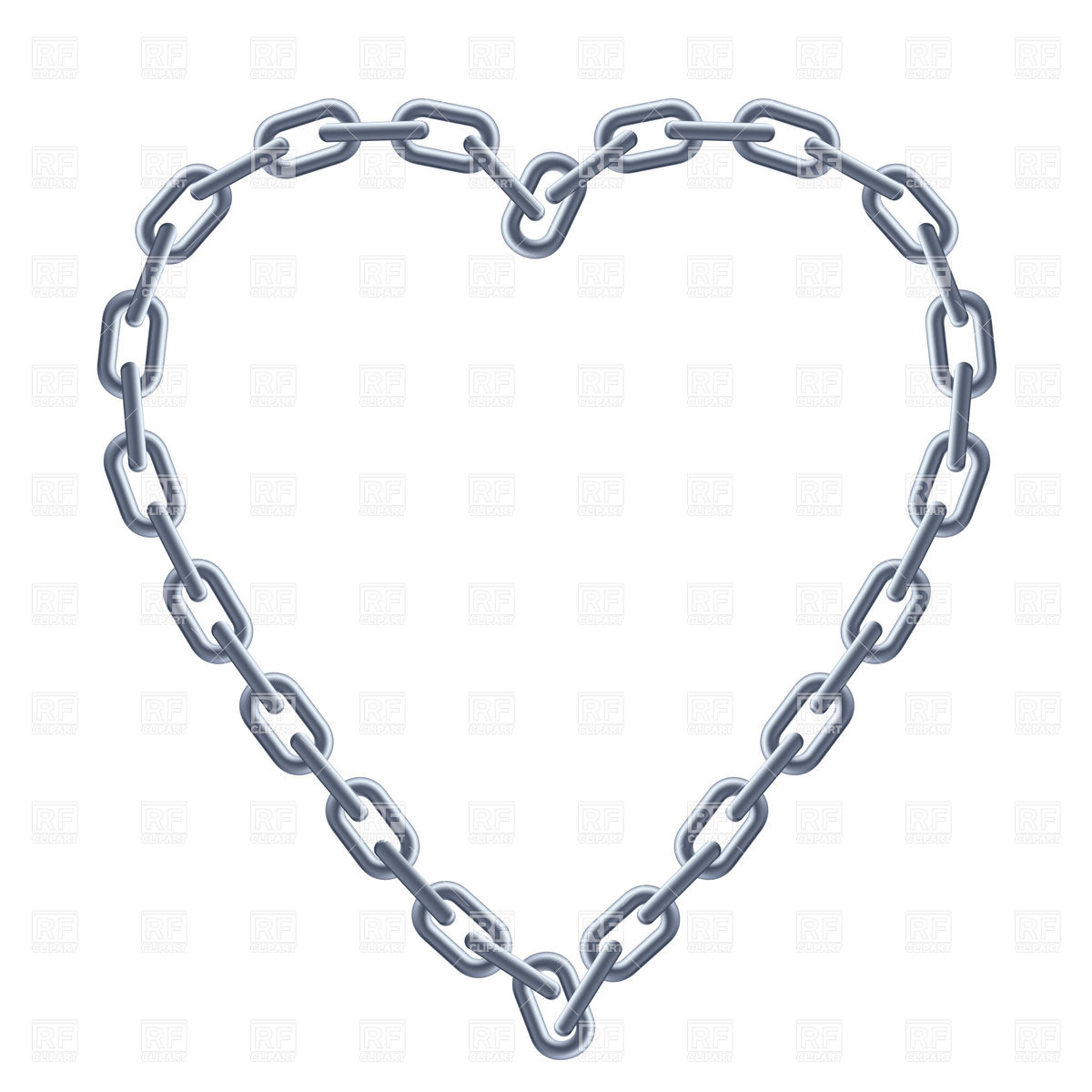Heart Shaped Silver Chain Frame Download Royalty Free Vector Clipart