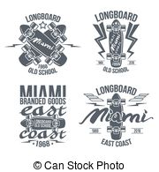 Longboard Illustrations And Clipart