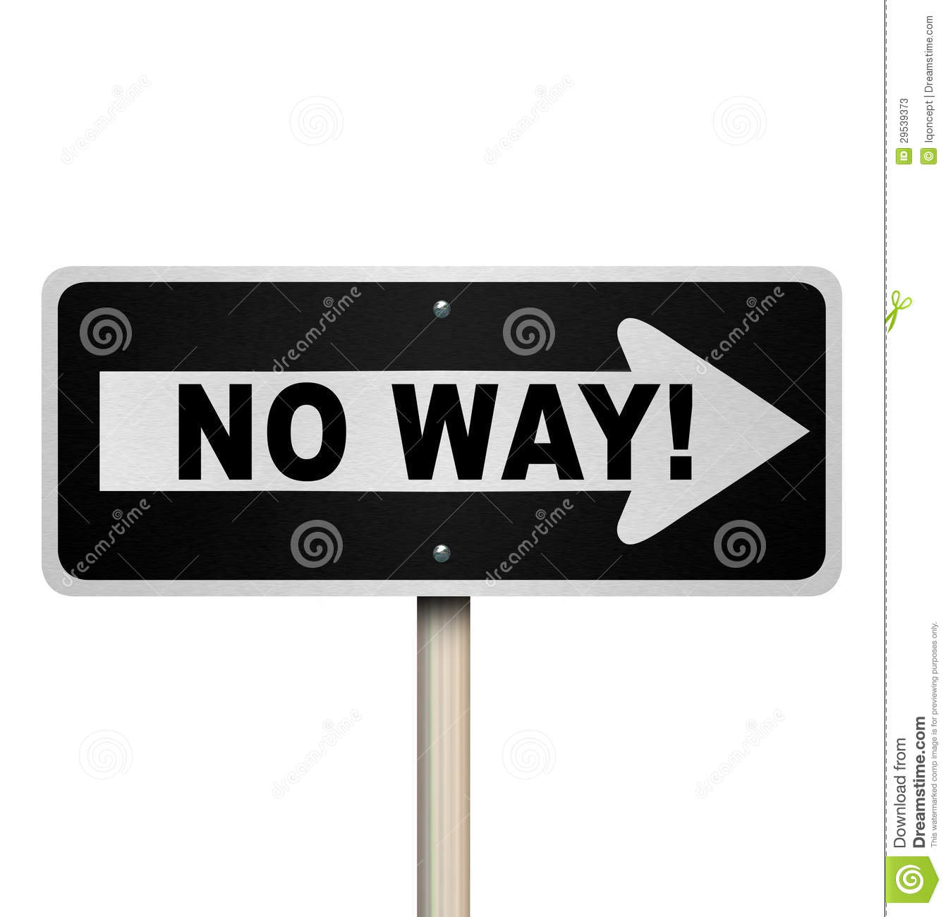 No Way One Way Street Road Sign Denial Rejection Stock Photos   Image