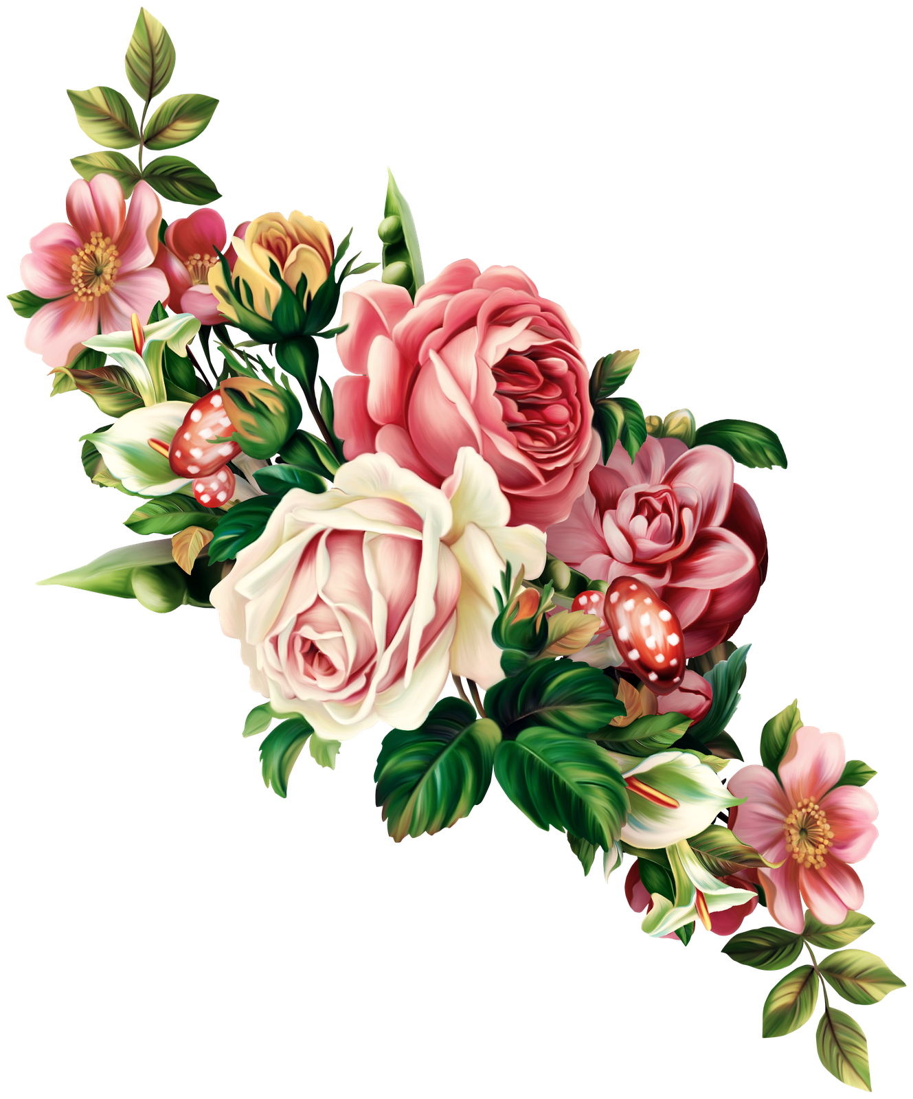 Rose Garland Clipart - Clipart Kid