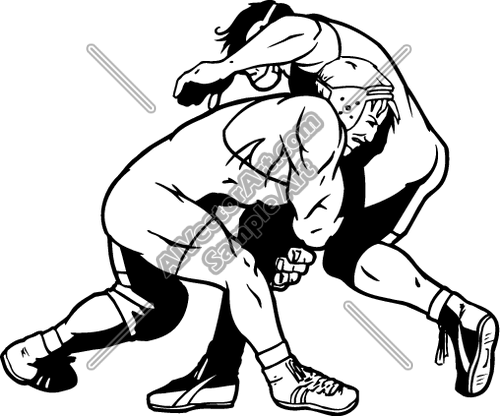 Wrestling- Vector Clipart - Clipart Kid