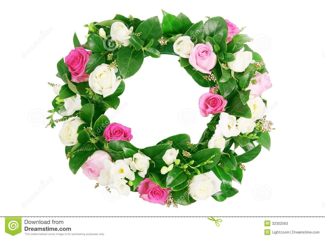 Rose Garland Stock Photos   Image  32302563