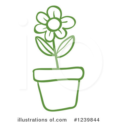 Royalty Free  Rf  House Plant Clipart Illustration By Colematt   Stock