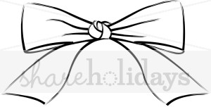 Simple Line Bow Clipart