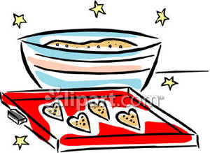 Sugar Cookie Clipart Clipart Of Cookie Dougha Bowl Of Sugar Cookie