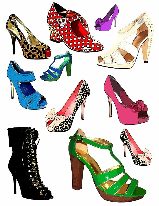 Perfect Womens Shoes Clipart | Clipart Panda - Free Clipart Images