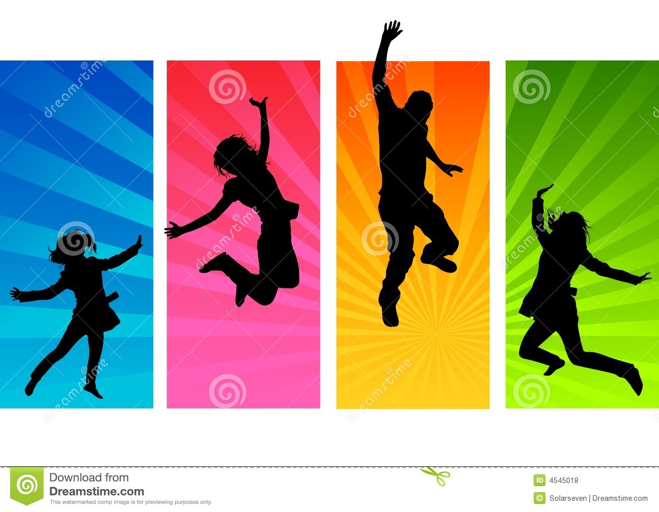 Young People Jumping Royalty Free Stock Photos   Image  4545018