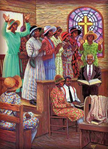 African American Church Women Clip Art