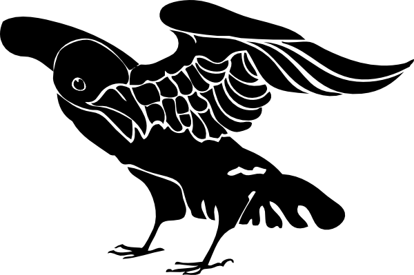 Black Crow Clip Art At Clker Com   Vector Clip Art Online Royalty