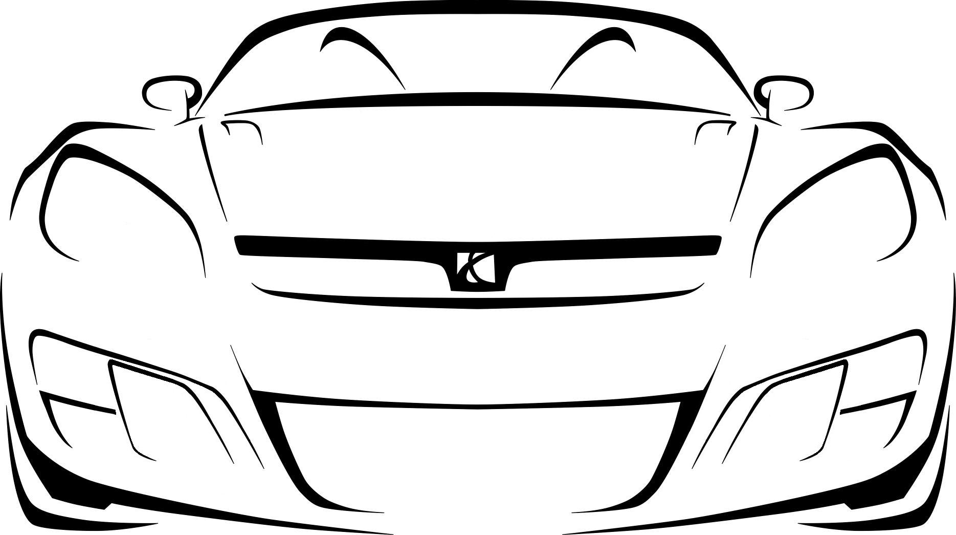 Car Outline   Clipart Best