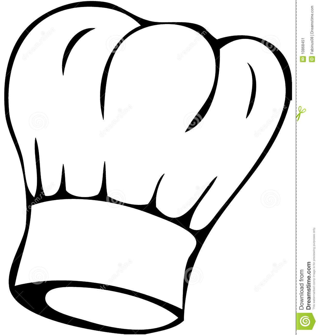 Chef Hat Black And White Clipart - Clipart Kid