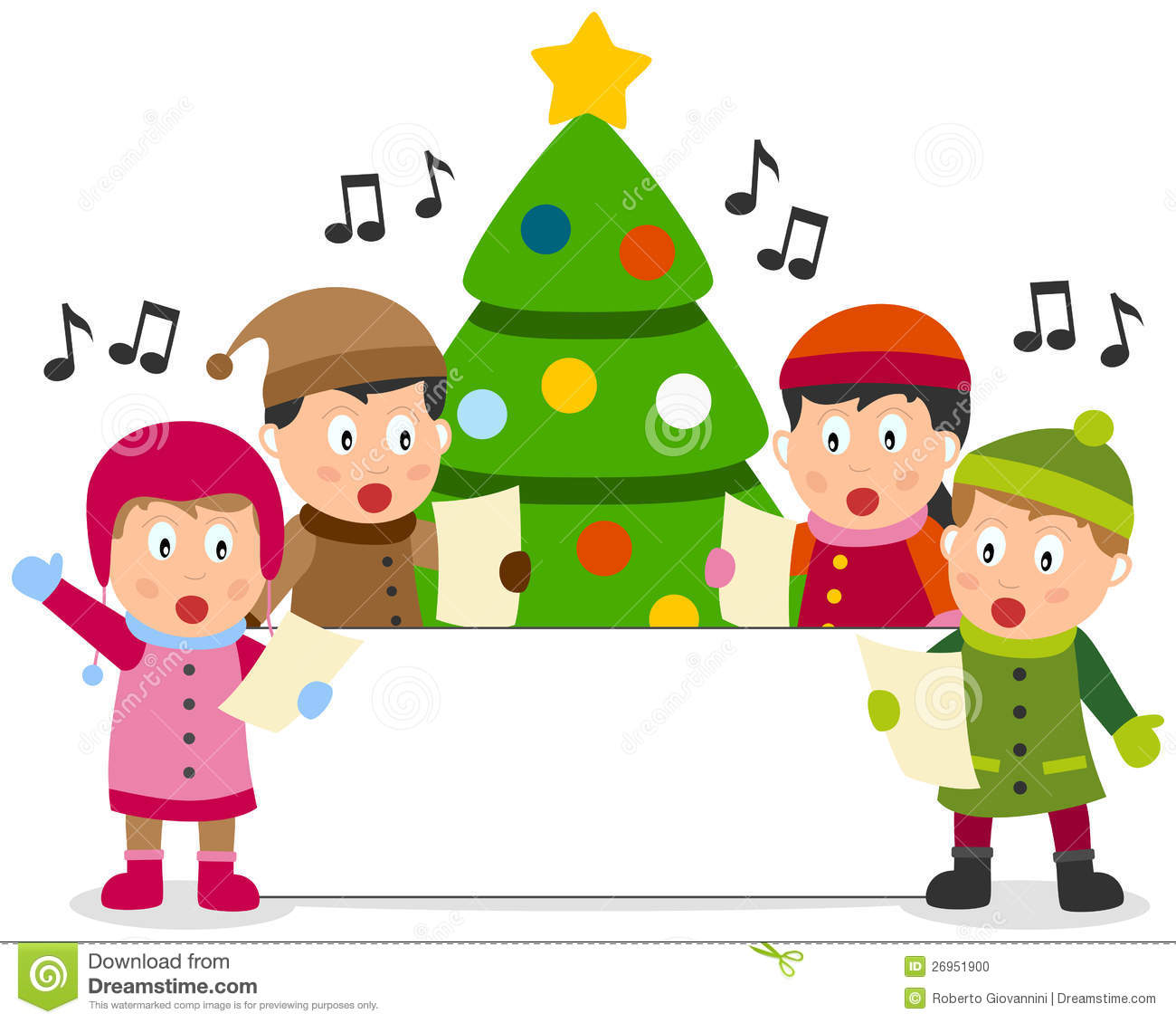 Children Singing Clipart Christmas Christmas Kids And Banner