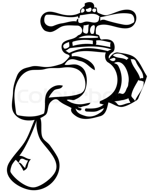 Clipart Water Tap   Vector   Colourbox