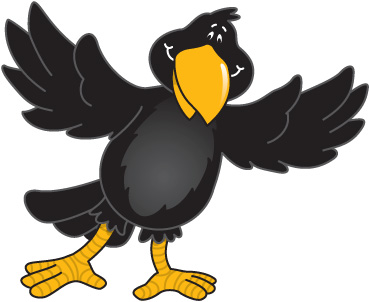 Crow Clip Art Black And White   Clipart Panda   Free Clipart Images