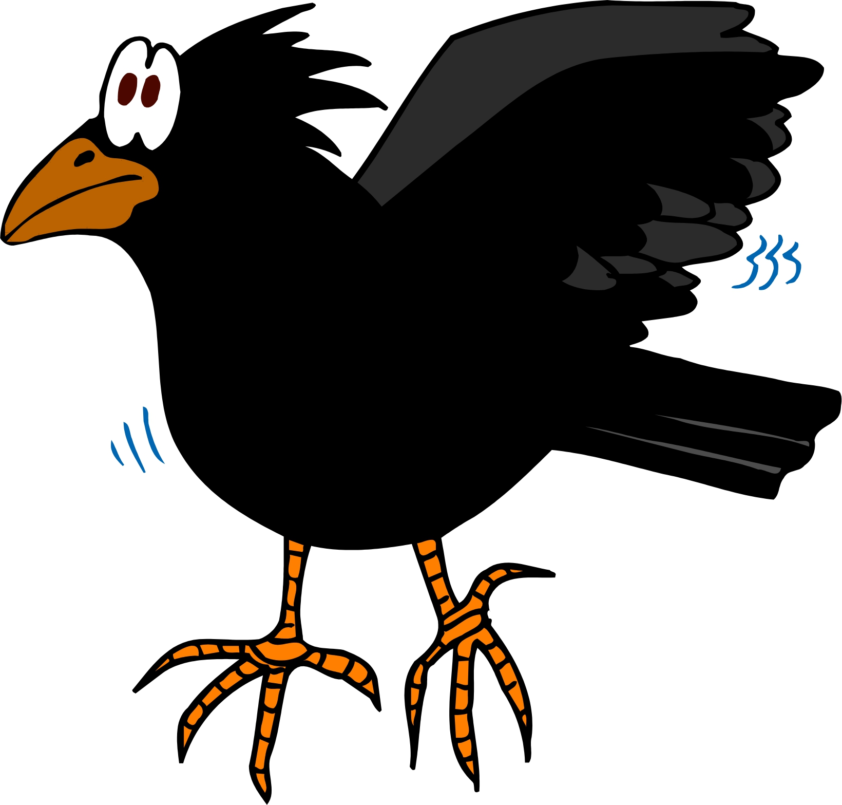 crow cartoon clipart clipart suggest
