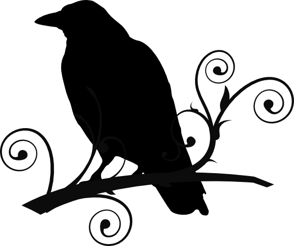 Crow On Branch Clip Art At Clker Com   Vector Clip Art Online Royalty