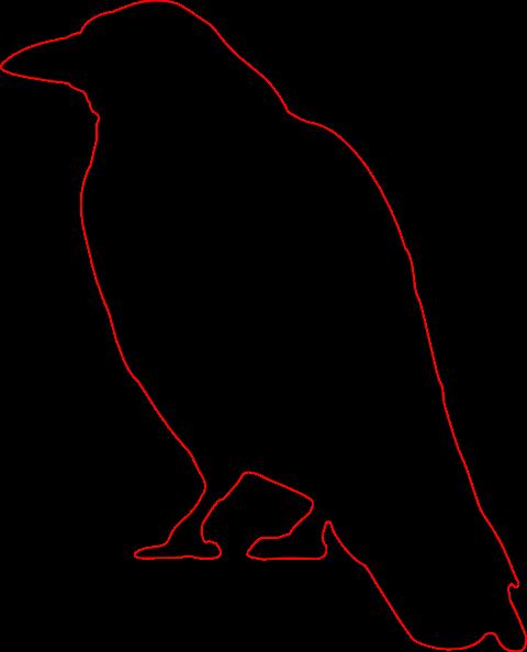 Crow Silhouette Clip Art At Clker Com   Vector Clip Art Online