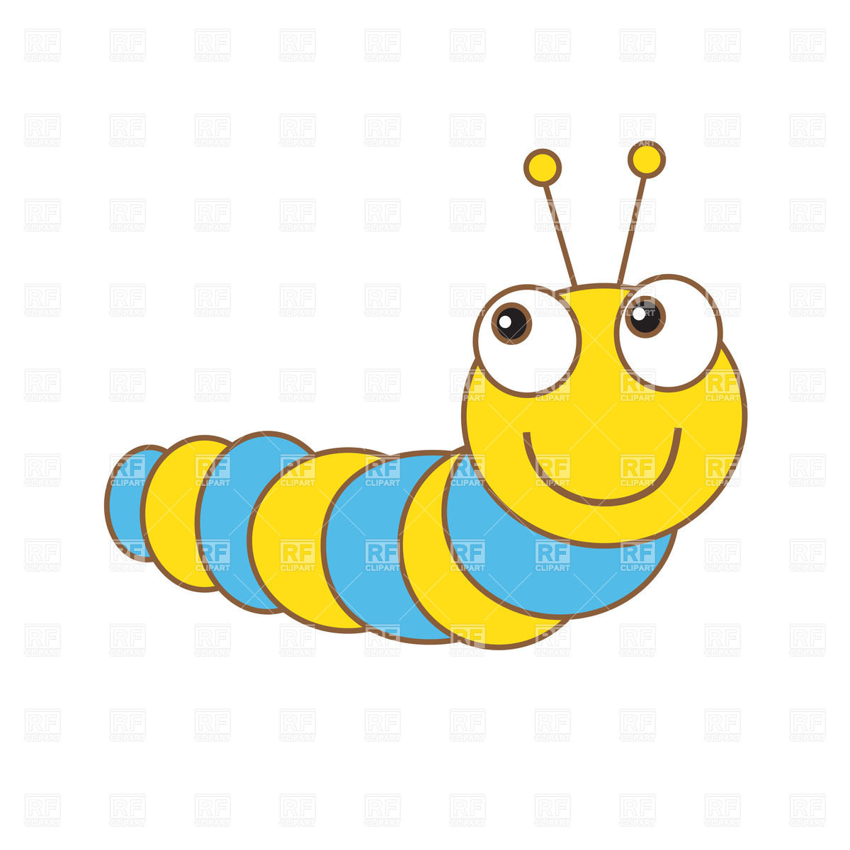 Cute Cartoon Caterpillar Download Royalty Free Vector Clipart  Eps