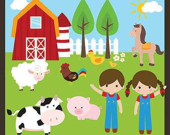 Cute Farm Animals Clip Art Images   Pictures   Becuo