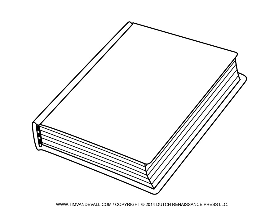 Free Blank Book Cover Template   Book Report   Reading Clip Art