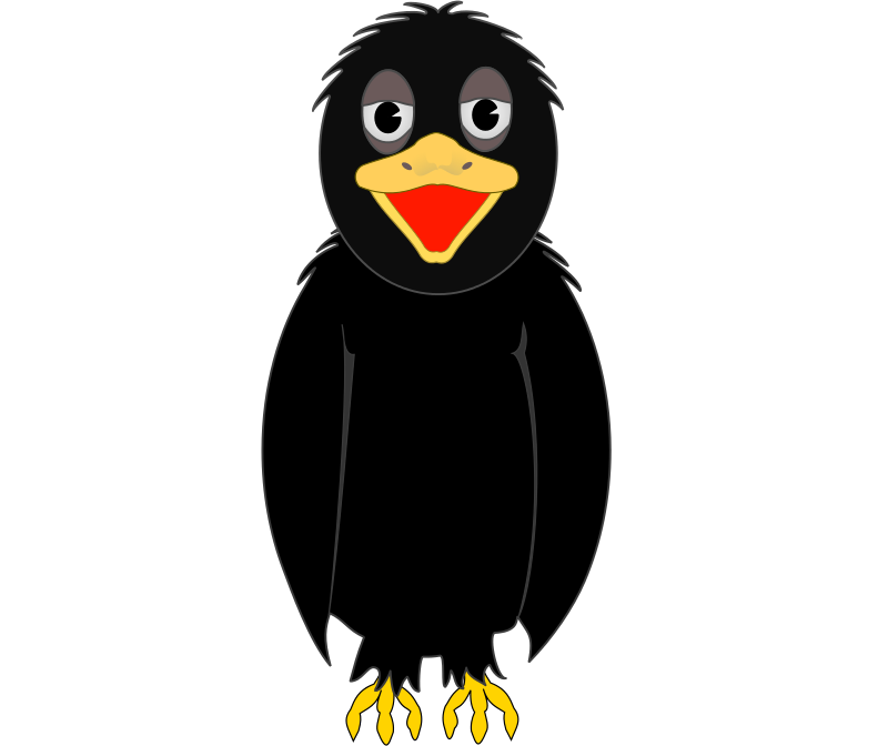Free Cartoon Crow Clip Art