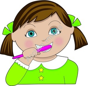 Girl Brush Teeth Clipart   Clipart Panda   Free Clipart Images