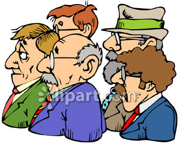 Group Of Businessmen Clip Art   Royalty Free Clipart Illustration