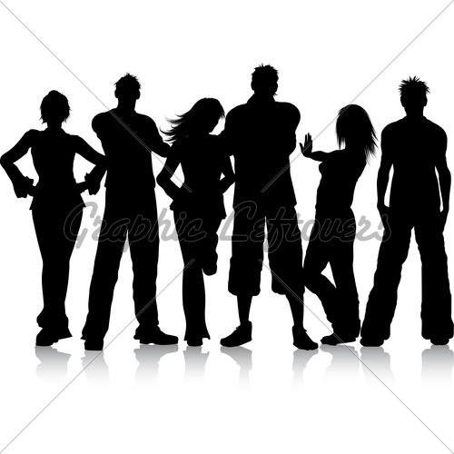 Group Of Young People   Gl Stock Images