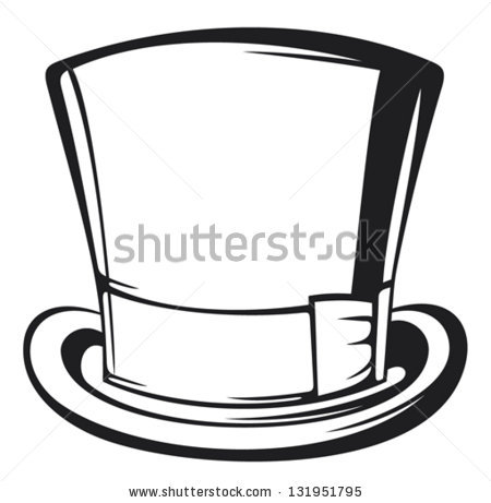 Hat Clipart Black And White Stock Vector Top Hat Black Gentleman Hat