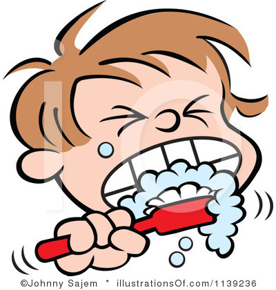 Kids Teeth Clipart Boy Brush Teeth Clipartbrushing Teeth Clipart