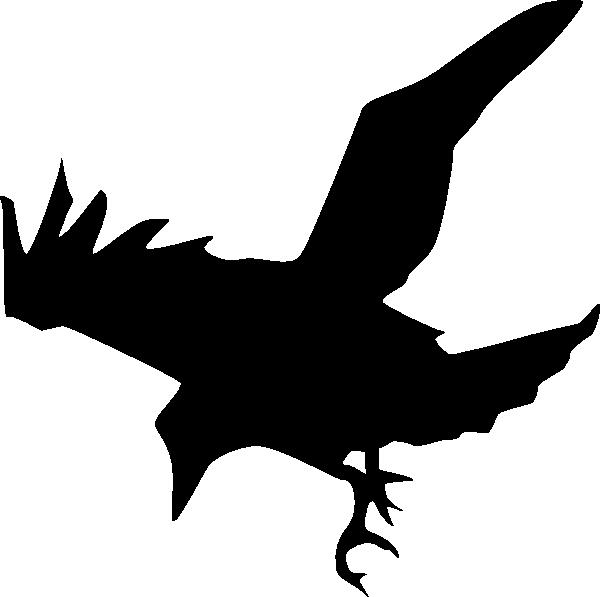 Raven Silhouette Clip Art At Clker Com   Vector Clip Art Online