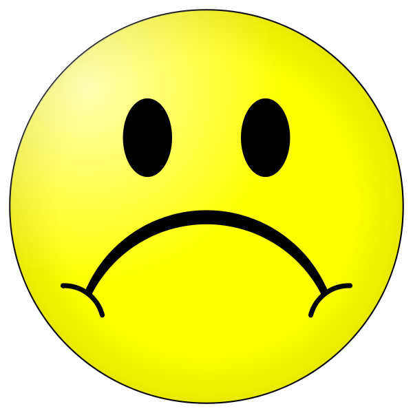 Sad Smiley Face Clipart - Clipart Kid