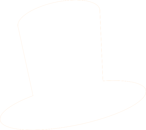 Top Hat Clipart Black And White   Hvgj