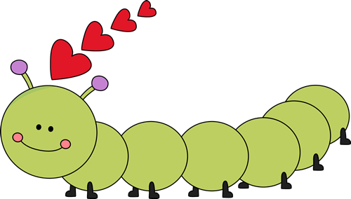 Valentine S Day Caterpillar   Cute Long Green Caterpillar With Red