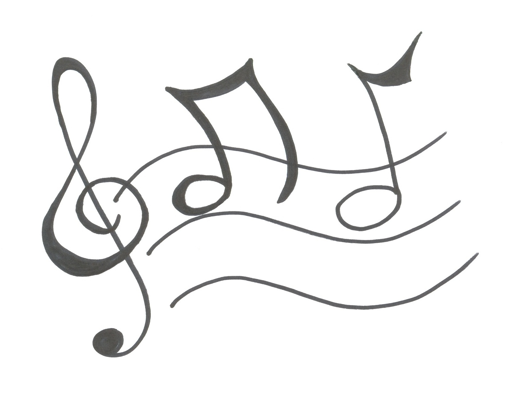 Line Drawing Music : Wave drawing clipart suggest