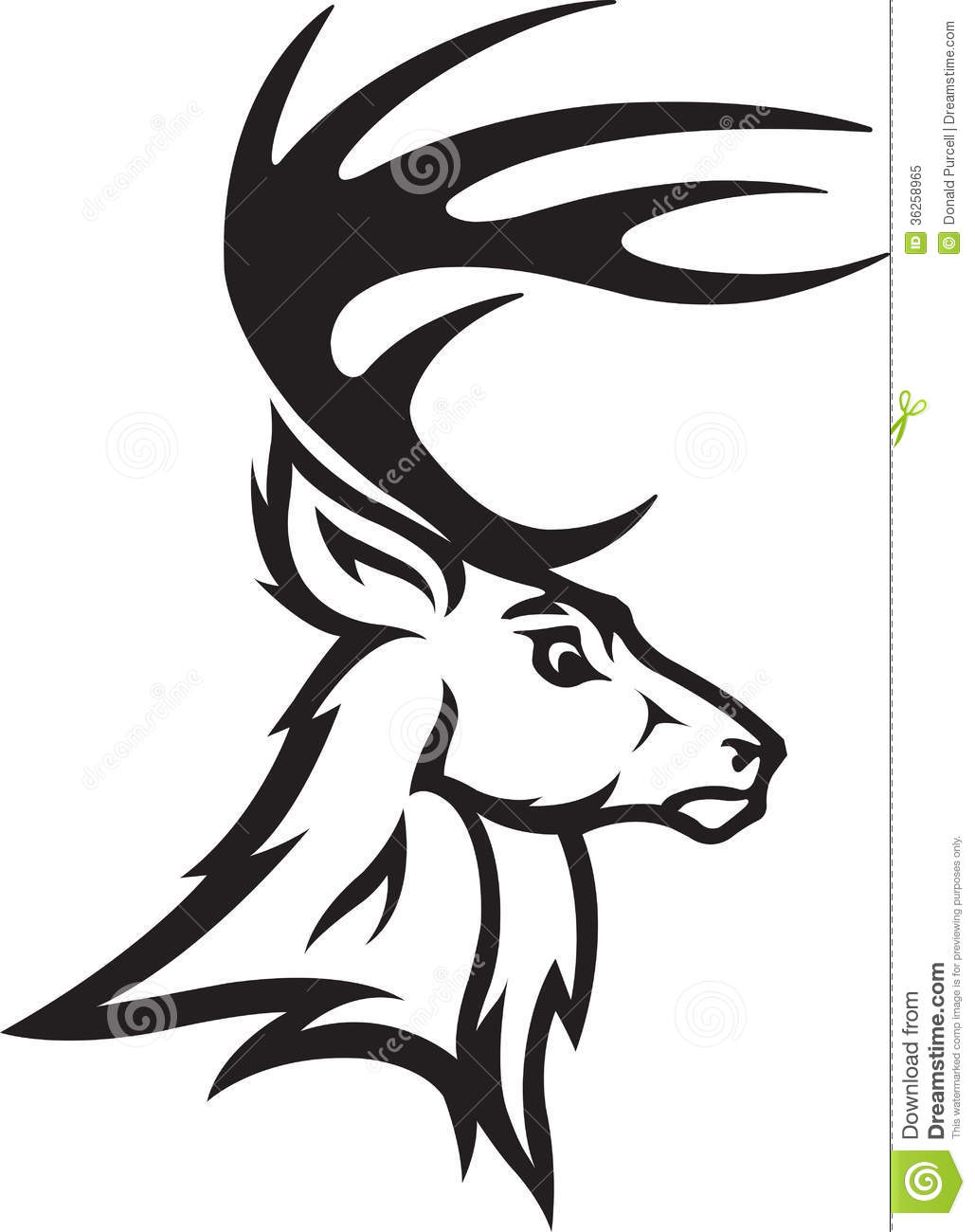 Deer Black And White Clipart - Clipart Kid