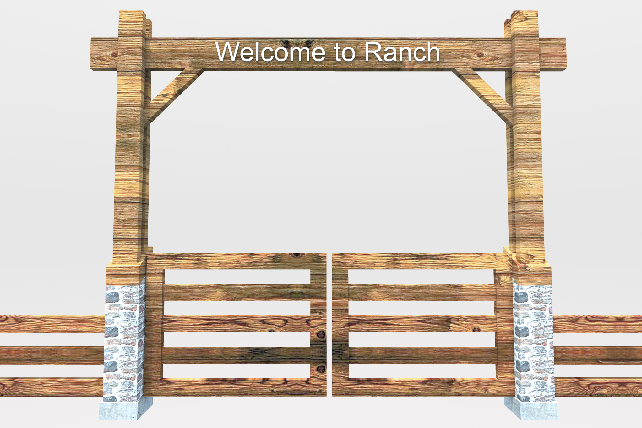 Ranch Fence Gate To A Design To A Clipart - Clipart Kid