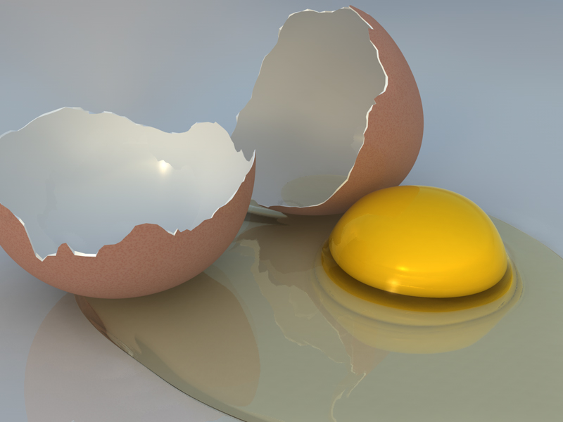 Cracked Brown Eggs And White Clipart - Clipart Kid