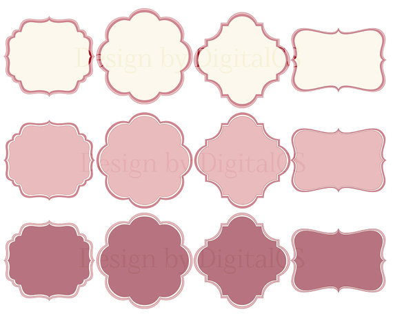 Frames Borders Frames Clipart Digital Frame Clip Art Dusty Rose Tag