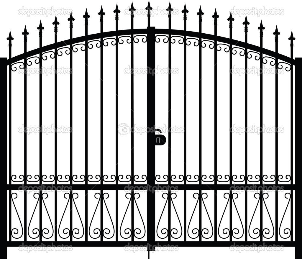 Gate Silhouette Vector   Stock Vector   Photos  12867089