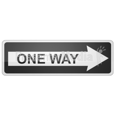 Long One Way Sign Right   Signs And Symbols   Great Clipart For