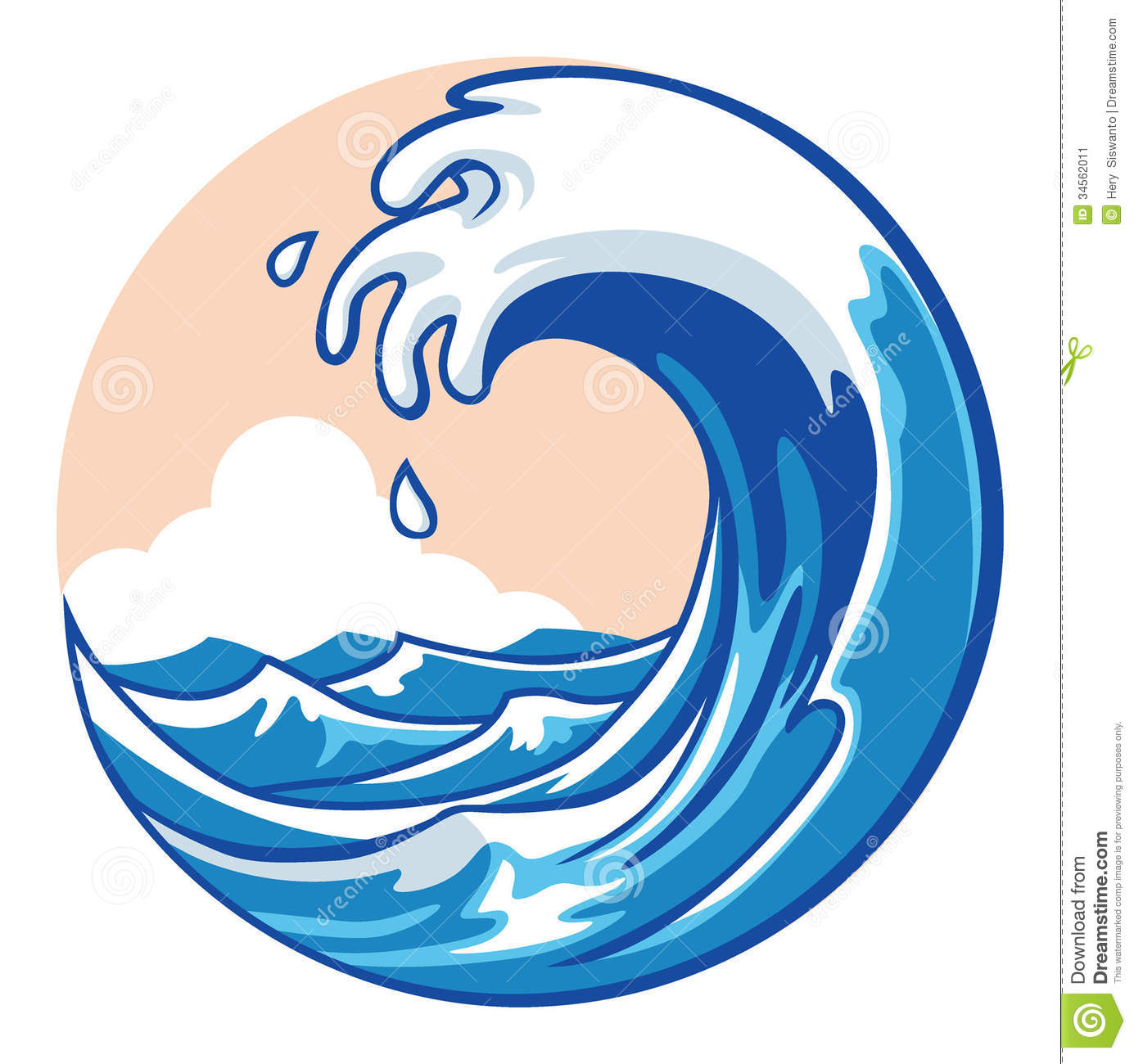 Tidal Wave Splash Clipart - Clipart Kid